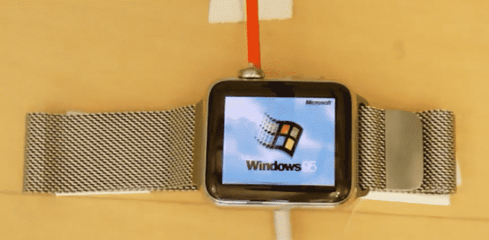 Microsoft's Windows 95 on an Apple watch, this developer actually did it