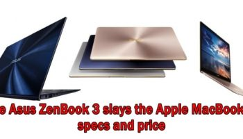 ASUS ZenBook 3 with Core i7, 16GB DRAM is slimmer and faster than Macbook