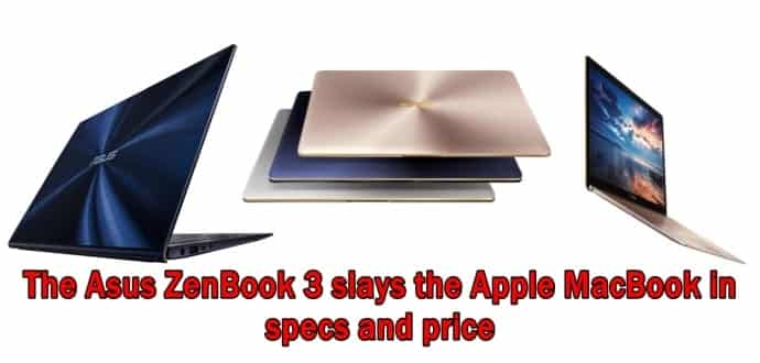 ASUS ZenBook 3 with Core i7, 16GB DRAM is slimmer and ...