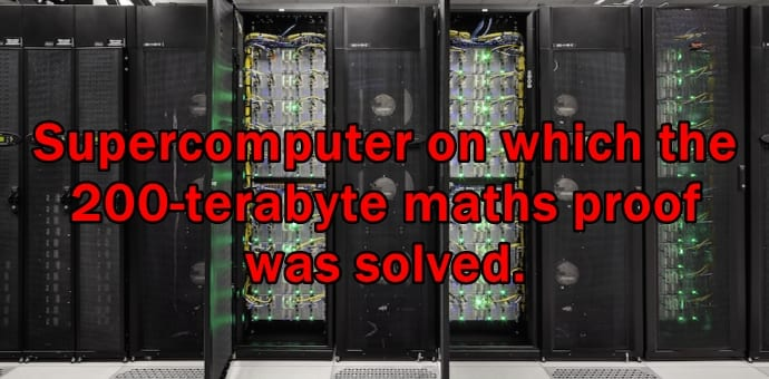 The largest ever supercomputer generated math proof is at 200 terabytes