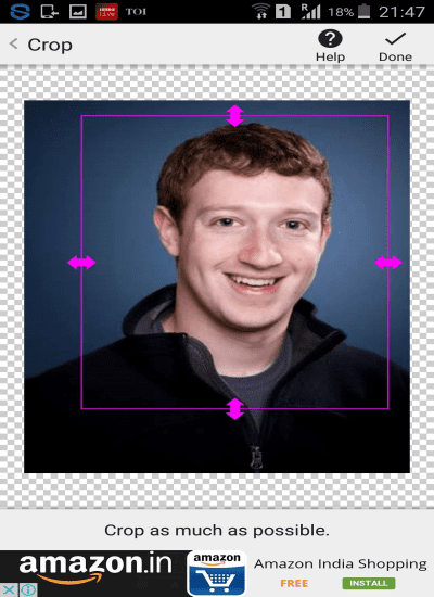Remove background from a photo with face