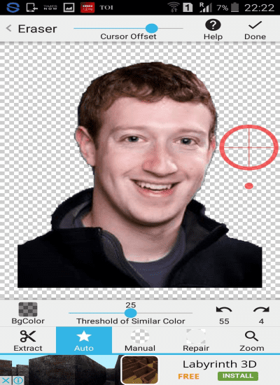Now remove any background from image in an Android smartphone