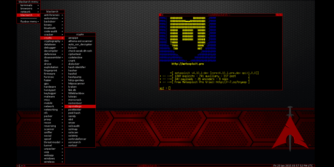 New BlackArch Linux version released, now provides 1400 pentesting tools