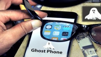 Inventor creates a 'ghost phone' that can be seen only using smart glasses
