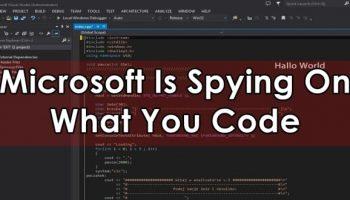 Microsoft secretly adds snooping codes into C++ Binaries Visual Studio 2015