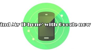 'Find My iPhone' with Google now