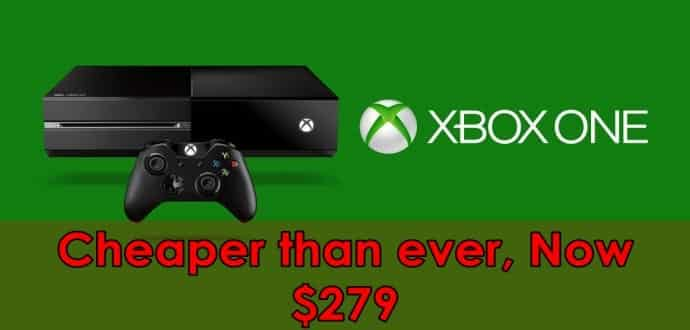 Microsoft Xbox One now available at a new low price of $279