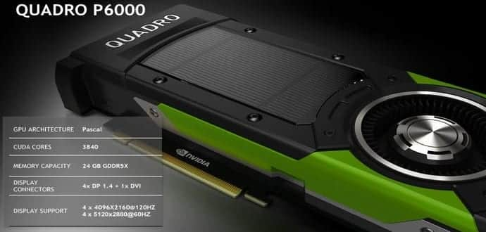 NVIDIA Quadro P6000 is most powerful GPU ever with 24GB of RAM and 3840 Cores