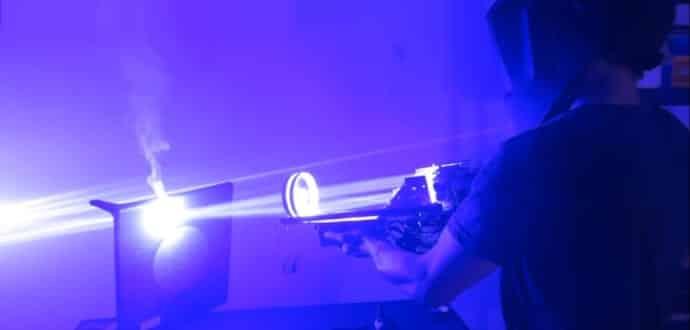 Check out this bizarre 200-watt laser bazooka