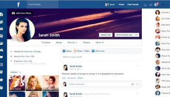 Give a new look to your Facebook with Facebook Flat Design