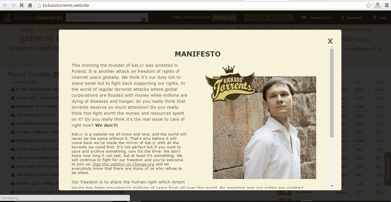 IsoHunt launches a working mirror for KickassTorrents