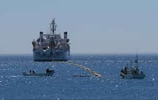 Undersea cable being laid-out