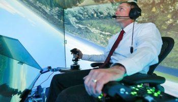AI beats a human fighter pilot in an air combat simulator