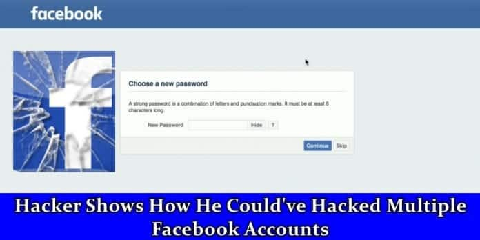 Hacker finds a way to hack into multiple Facebook accounts