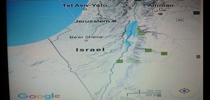 Google removes palestine from google maps sparks an online outrage google maps removes palestine in favor of israel gumiabroncs Images