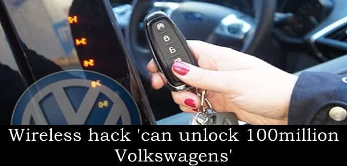 Hackers can clone Volkswagen keys, millions of VW cars at risk