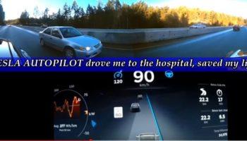 Auto-pilot saved my life says Tesla car owner