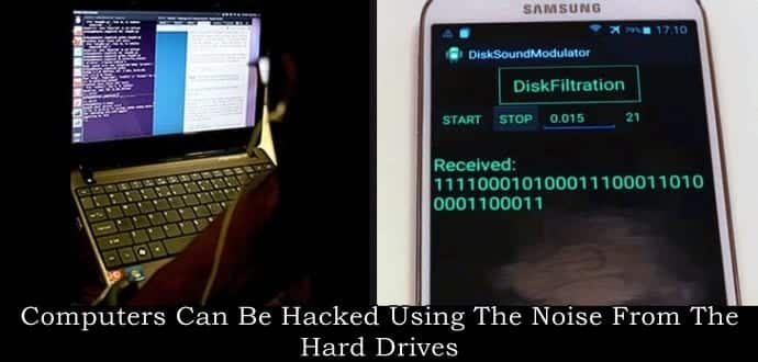 hackers can hack into your pc using the noise created by the hard