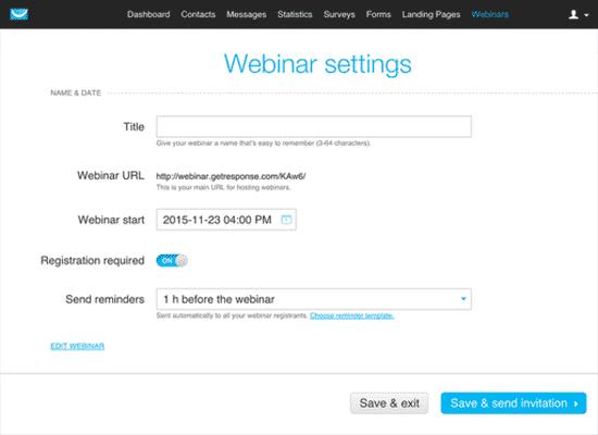 Plan your webinar