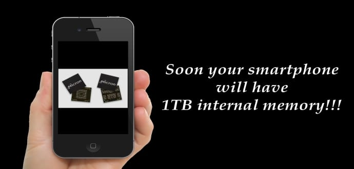 Smartphone internal storage to increase upto 1TB with 3D NAND Flash