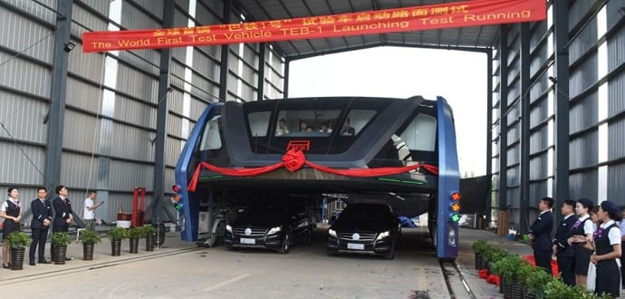 China's 'Elevated Bus': The Future Of Public Transport Is Here