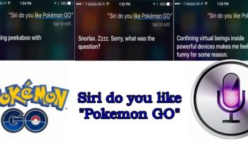 Even Apple's virtual assistant Siri is playing Pokemon Go
