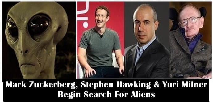 Mark Zuckerberg, Stephen Hawking & Yuri Milner begin $100 million search for alien life