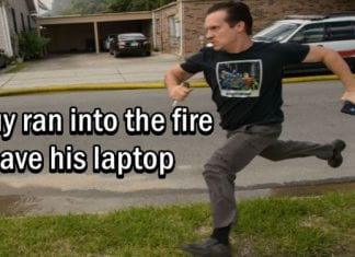 Can You Run Into A Burning House To Save Your Laptop, This Guy Just Did It!!!