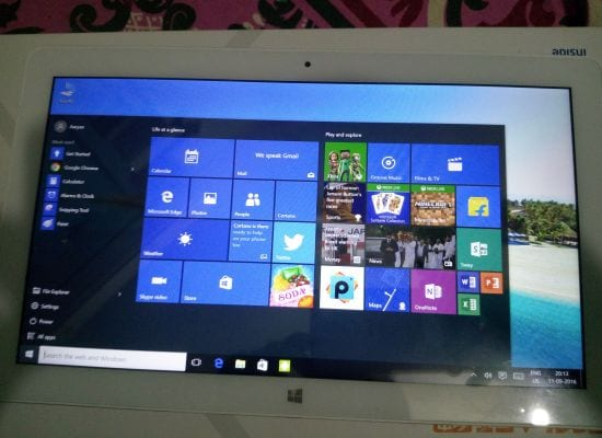 Want a dual-boot tablet which has both Windows 10 and Android, try out Teclast Tbook 16 Pro