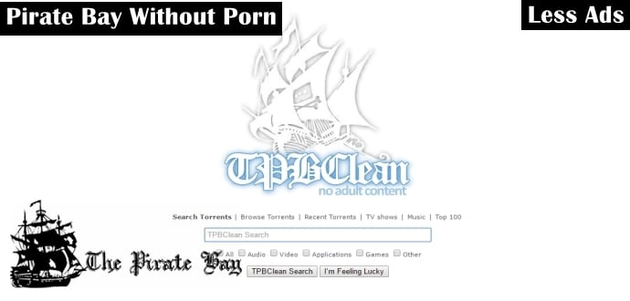 TPBClean: The Pirate Bay Torrent Site Without The Porn