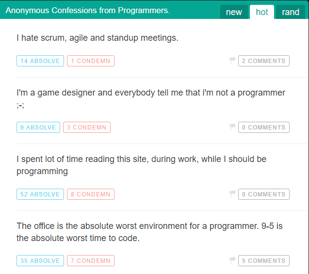 "Hate your programming job, visit this ""coding confessional"""