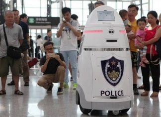 China's new Robocop begins patrolling, laced with facial recognition technology & taser