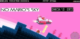 "In protest against Nintendo's legal threats, developers rename the game ""No Mario's Sky"" to 'DMCA's Sky'"