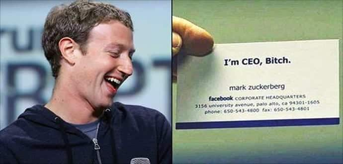 Check out the actual business cards of famous people