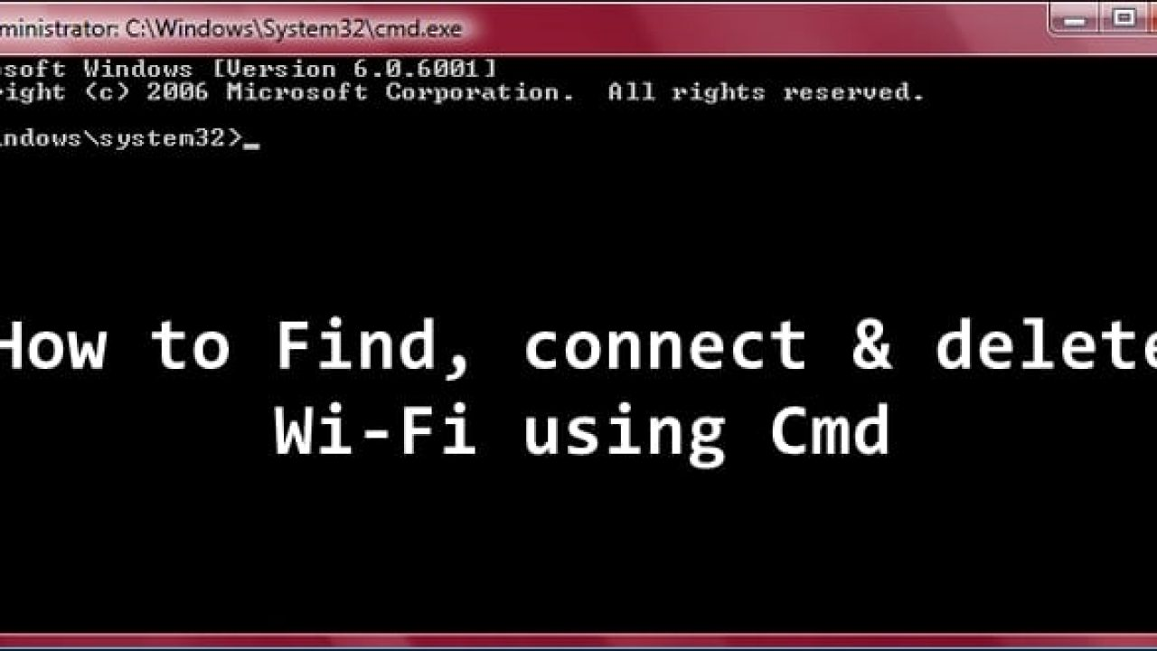 How to connect, manage, delete Wi-Fi networks using Command
