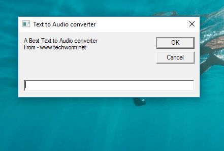 Text to audio Converter @Techworm.net