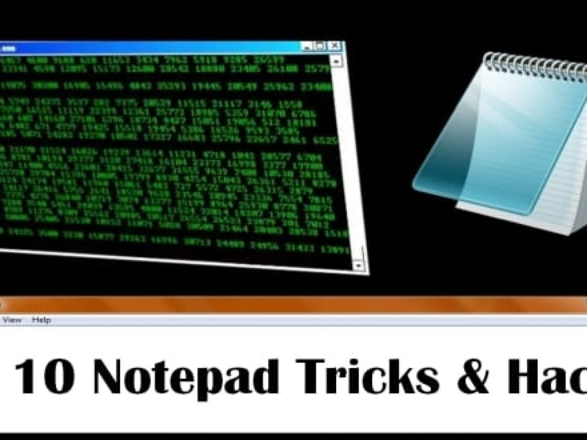 10 Super Cool Notepad Tricks Hacks Commands For Your Pc 2018