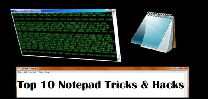 top 10 super cool notepad tricks hacks amp commands for