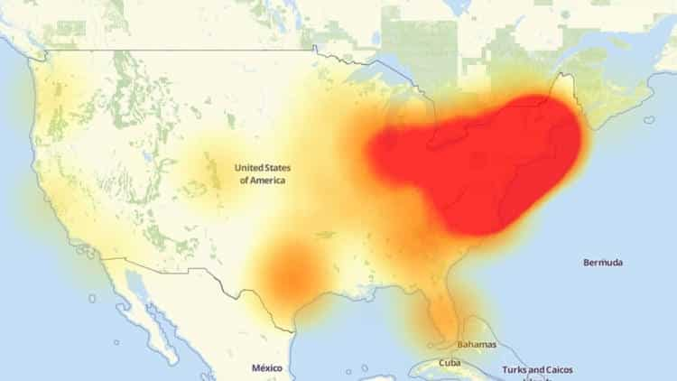 DNS Provider DDoSed leading to Internet outage in Mid West and East Cost United States