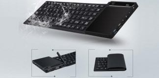 Vensmile K8 Mini Windows 10 PC is built into a flexible keyboard and touchpad