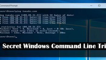 Top 10 hidden Windows secret command line tricks and hacks