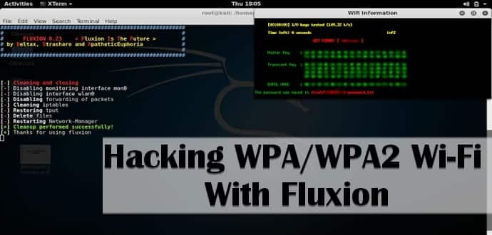 Hacking WPA/WPA2 without dictionary/bruteforce using Fluxion