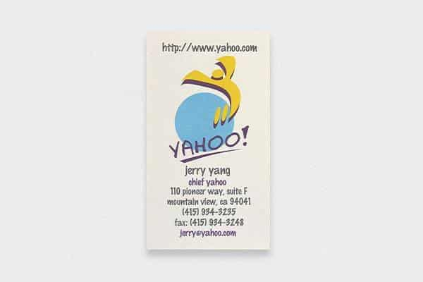 jerry yang's business card