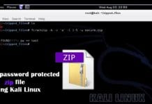 How to crack a password protected zip file using Kali Linux