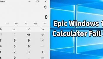 Windows 10 Calculator Gives Wrong Mathematical Calculations