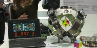 A robot makes world record by solving Rubik's cube in just 0.637 seconds