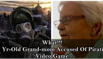 86-year-old grandma accused for illegally downloading a video game
