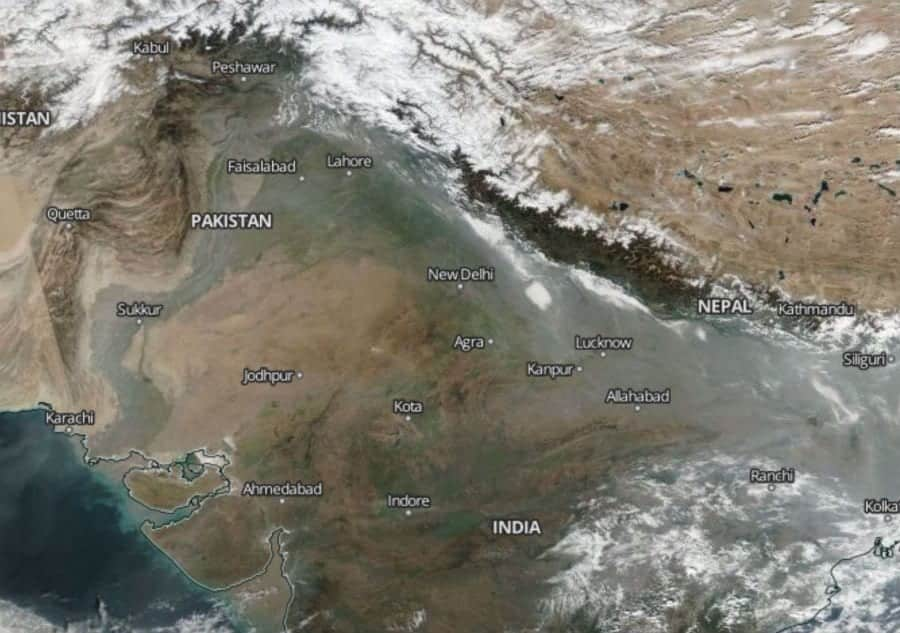 New Delhi's air is so bad that you can see it from space