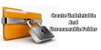 How to create undeletable and unrenamable folder on your Windows PC