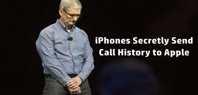 iPhones Secretly Send Call History to Apple